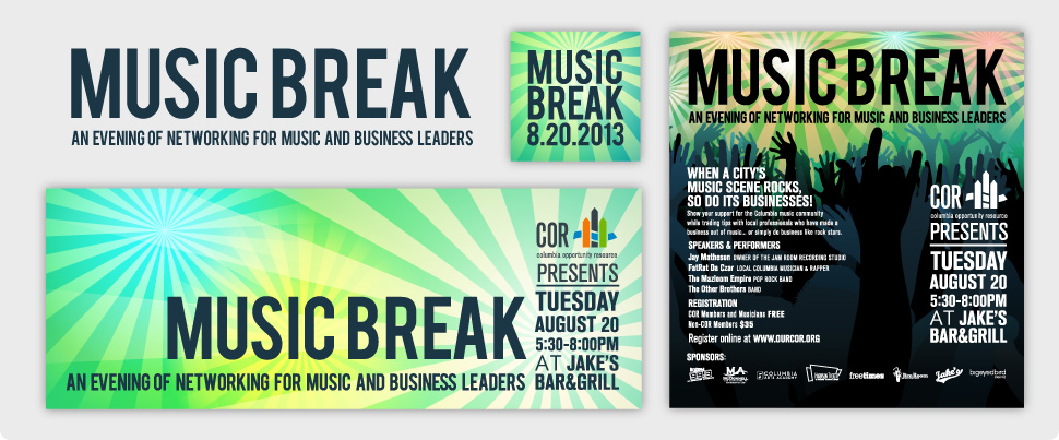 Music Break - branding and collateral